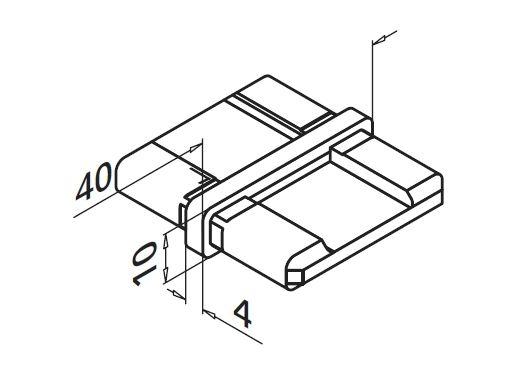 Imbinare 180° mana curenta rectangulara 40x10 mm 1