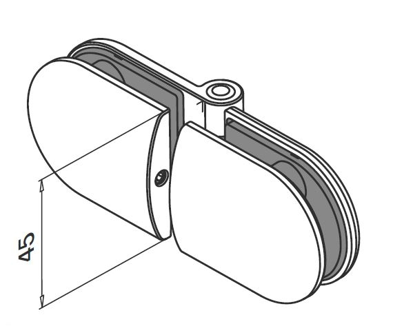 Balama portita balustrada sticla/sticla [1]