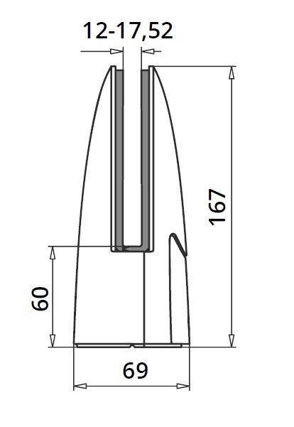 Prindere punctuala ovala pardoseala 69x110 mm 1