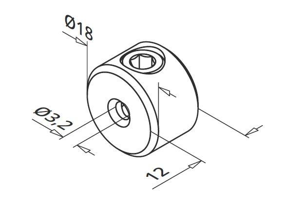 Piesa blocare cablu pentru montant balustrada [1]