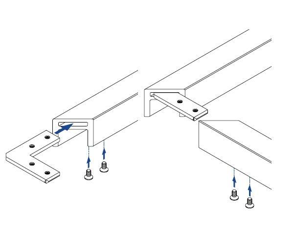 Conector 90° profil U/mana curenta Easy Glass® Hybrid 2