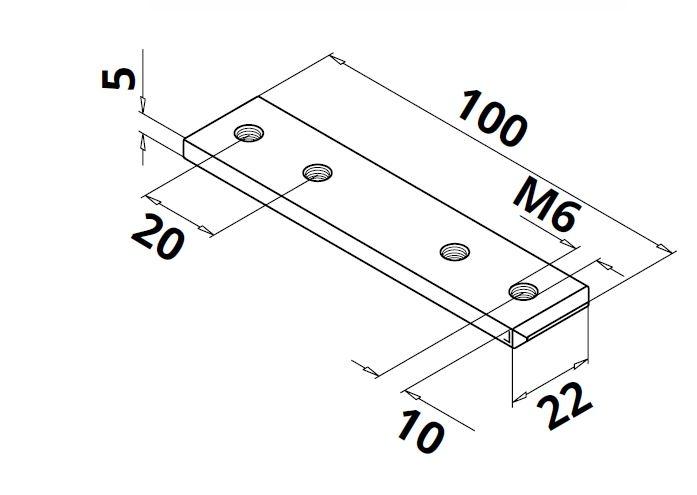 Conector 180° profil/mana curenta U Easy Glass® Hybrid 1