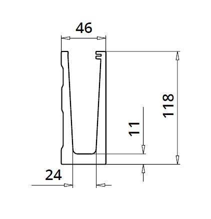 Profil U balustrada Easy Glass® Eco fixare laterala 1