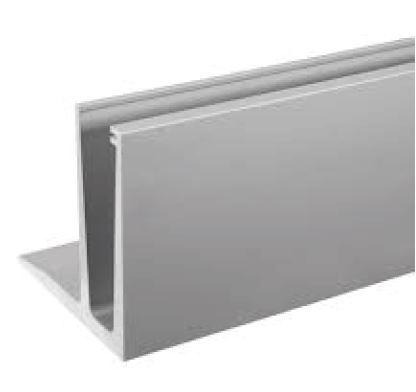 Profil U balustrada Easy Glass® Eco F cu talpa fixare pardoseala 0