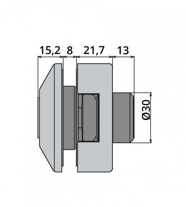 Broasca Studio pentru cilindru usa sticla 8-10 mm 3