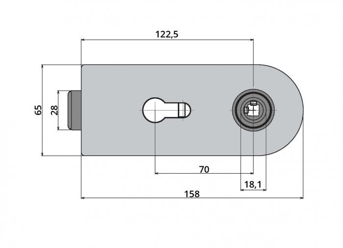 Broasca Studio pentru cilindru usa sticla 8-10 mm 2