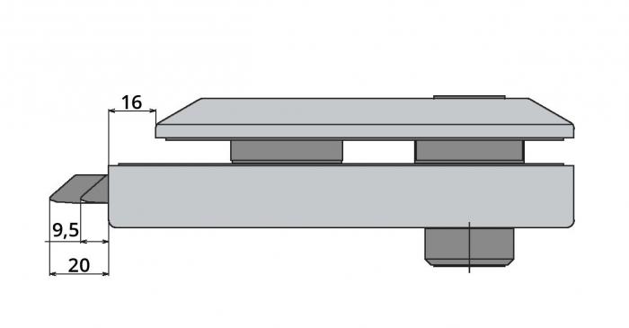 Broasca Studio pentru cilindru usa sticla 8-10 mm 4