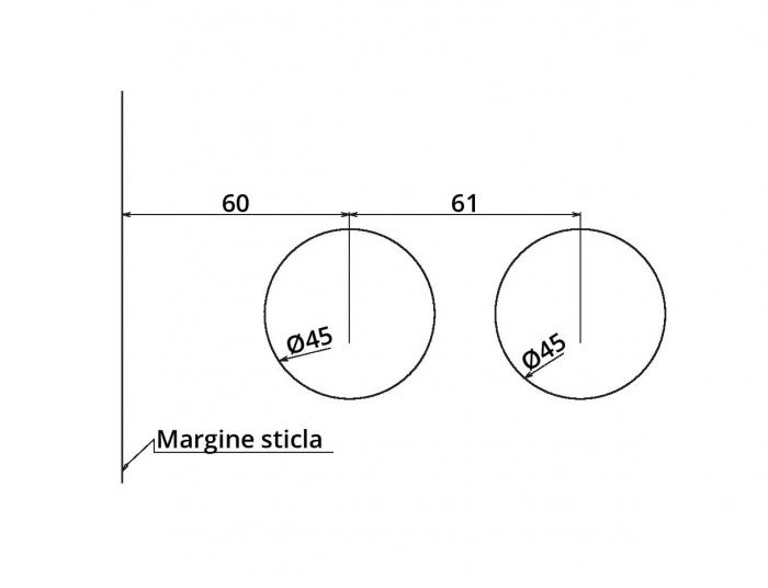 Broasca Studio pentru cilindru usa sticla 8-10 mm 5