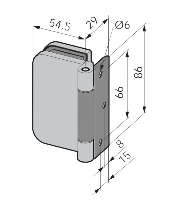 Balama Atelier F/R usa sticla 8-10 mm 2