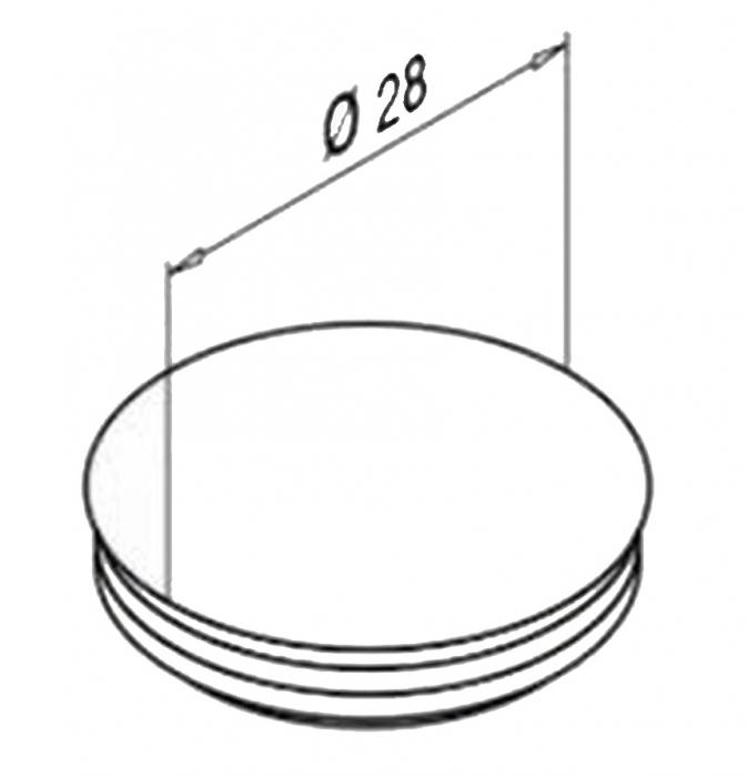 Capac mascare gauri fixare profil U balustrada Easy Glass® Eco 1