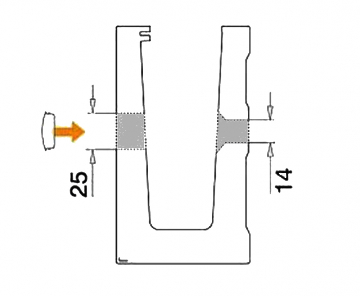 Capac mascare gauri fixare profil U balustrada Easy Glass® Eco 2