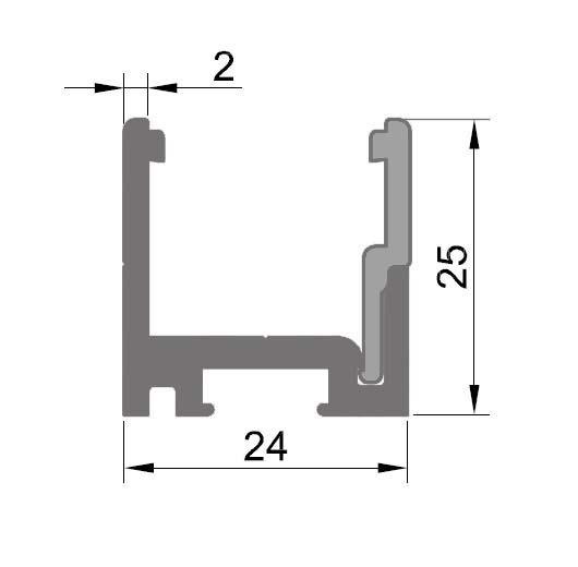 Profil monobloc cu clips inferior 1