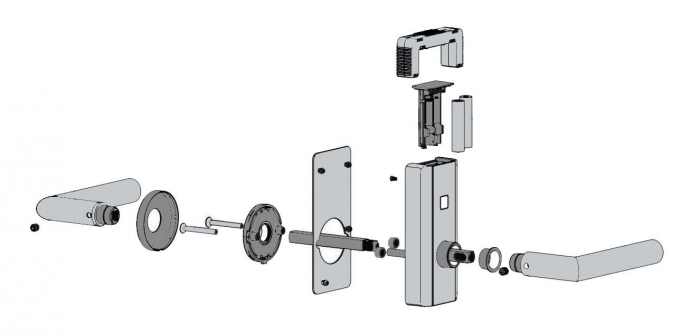 Incuietoare electronica Dorma C-lever Compact 1