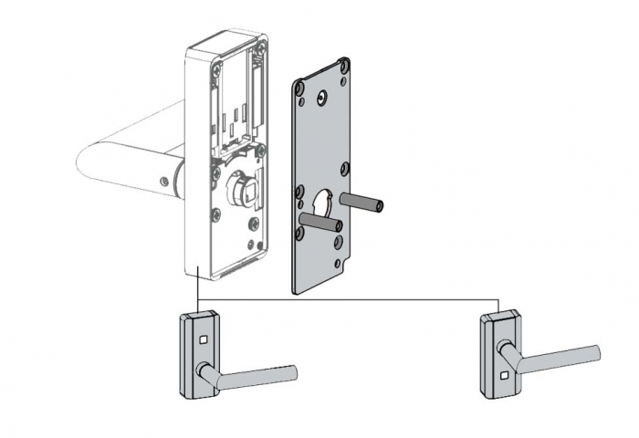 Incuietoare electronica Dorma C-lever Compact 2