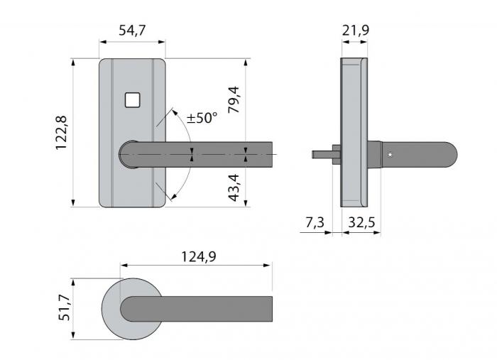 Incuietoare electronica Dorma C-lever Compact 3
