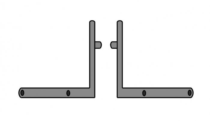 Coltar fixare podea profil toc/parte fixa Dorma Alexa AT45, set stanga/dreapta 0