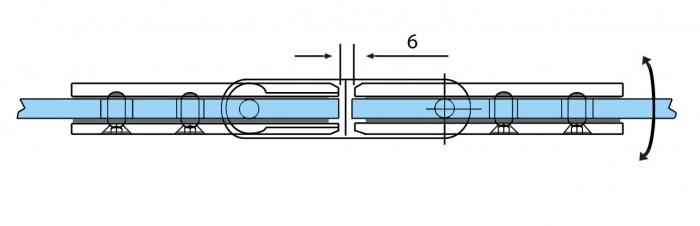 Balama ajustabila sticla/sticla 180° 2