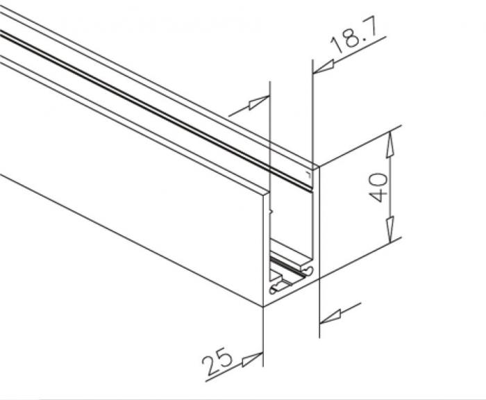 Profil compartimentare U 40x25x3,15 mm 1