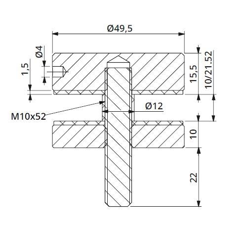 Conector sticla Ø50x10 mm 1