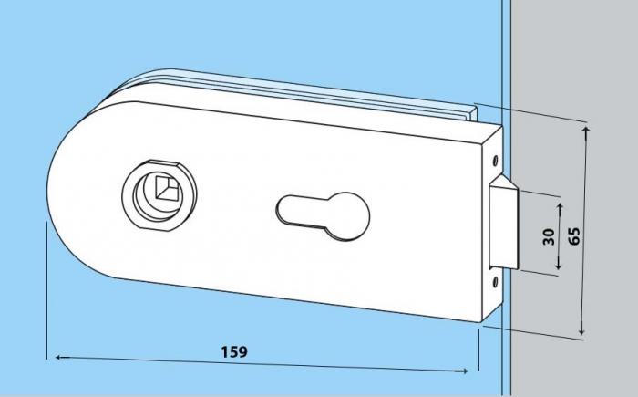 Set Dorma Studio Rondo broasca pentru cilindru + 2 balamale usa sticla 8 mm 1