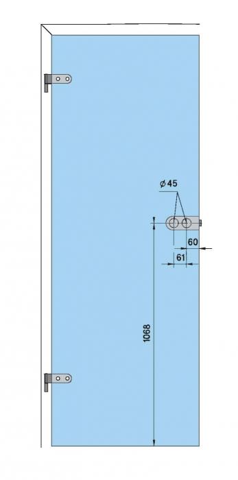Set Dorma Studio Rondo broasca pentru cilindru + 2 balamale usa sticla 8 mm 4