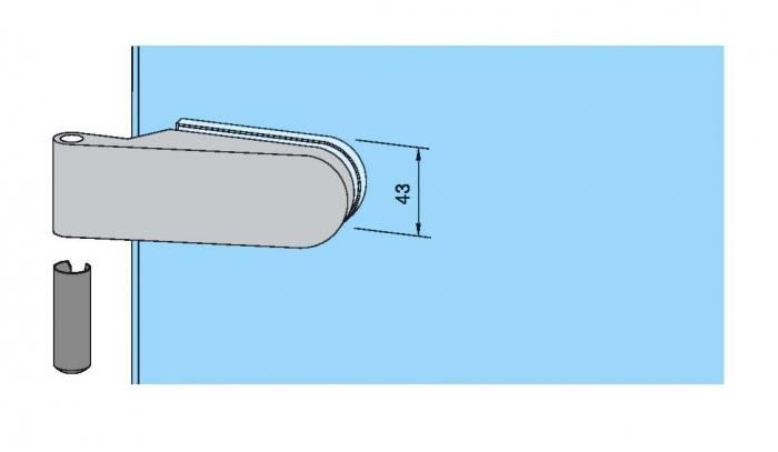 Set Dorma Studio Rondo broasca pentru cilindru + 2 balamale usa sticla 8 mm 5