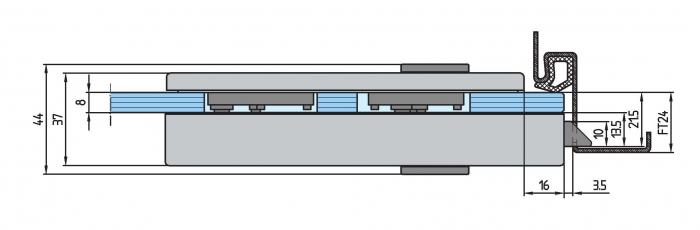 Broasca Dorma Studio Rondo fara incuiere usa sticla 8-10 mm [3]