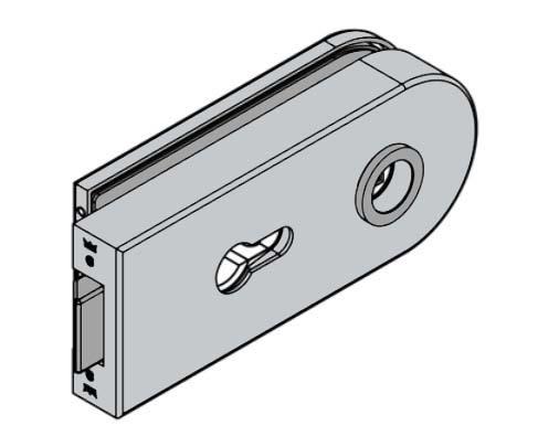 Broasca Dorma Studio Rondo pentru cilindru usa sticla 8-10 mm 1