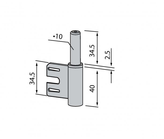 Pivot toc metalic Dorma 1