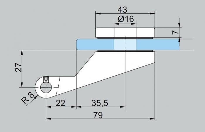 Balama aplicata Dorma Junior Office usa sticla 8-10 mm [2]