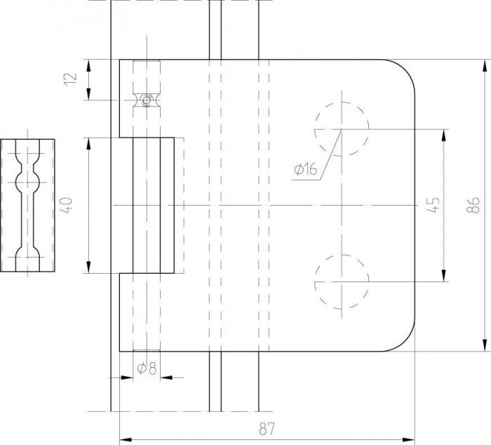 Balama aplicata Dorma Junior Office usa sticla 8-10 mm [3]
