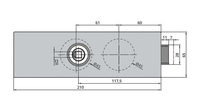 Broasca Dorma Arcos Studio fara incuiere usa sticla 8-10 mm 4