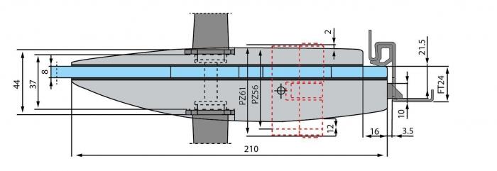 Broasca Dorma Arcos Studio pentru cilindru usa sticla 8-10 mm 3