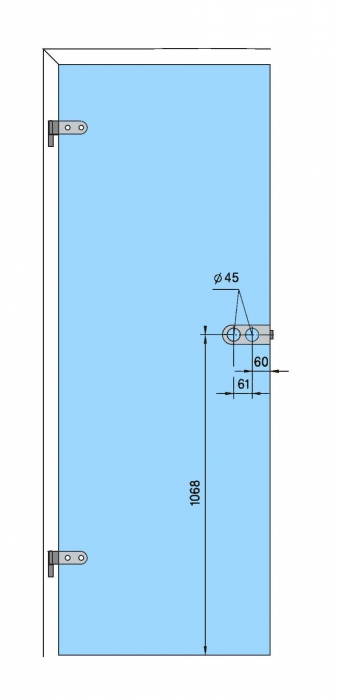 Broasca Dorma Arcos Studio pentru cilindru usa sticla 8-10 mm 4