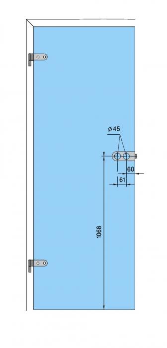 Broasca Dorma Arcos Studio pentru baie usa sticla 8-10 mm 4