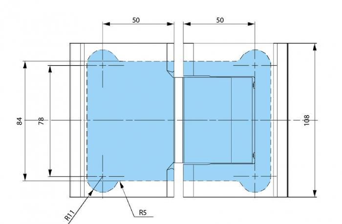 Balama hidraulica Biloba cu amortizare incorporata sticla/sticla 1