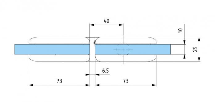 Balama hidraulica Biloba cu amortizare incorporata sticla/sticla 2