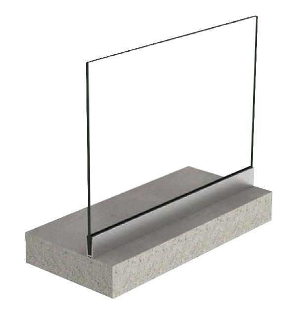 Profil U balustrada View Crystal fixare pardoseala 0
