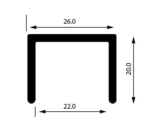 Profil U mana curenta, sectiune 26x20 mm [0]