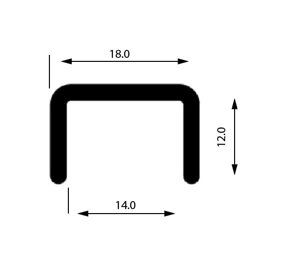 Profil U mana curenta, sectiune 18x12 mm 0