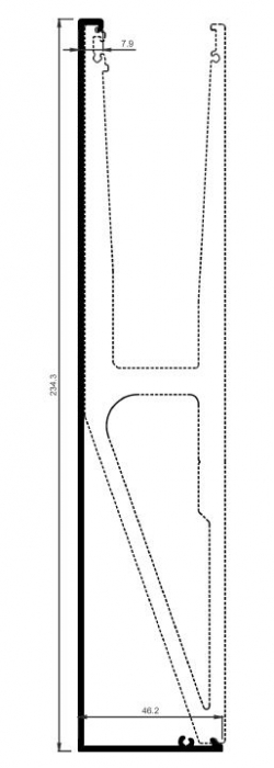 Capac frontal profil U balustrada tip Y View Crystal fixare laterala [0]