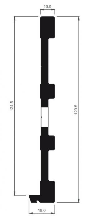 Profil drenaj pentru profil U View Crystal fixare laterala 8552 [0]