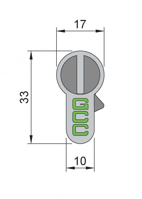Cilindru baie broasca usa sticla 8-10 mm 1