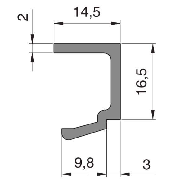 Bagheta profil parte fixa Dorma Alexa AT45 sticla 10-12 mm 1