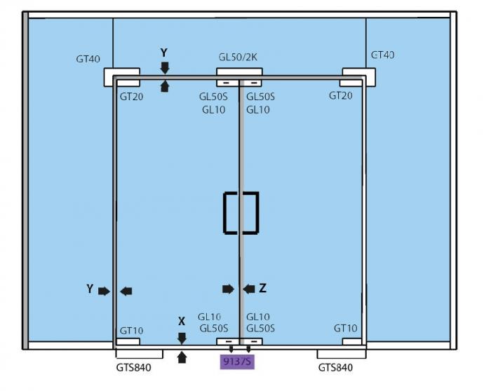 Contraplaca incuietoare de colt (pardoseala) 2