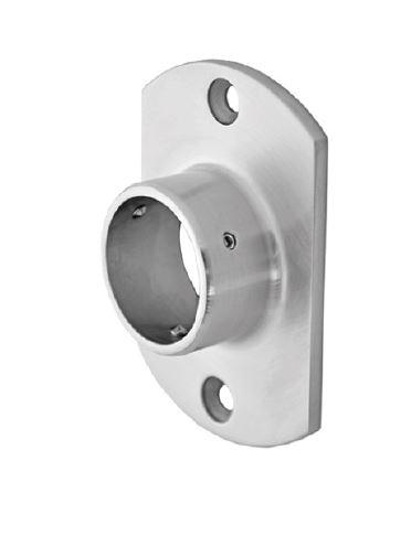Flansa ovala fixare perete mana curenta rotunda Ø42,4 mm 0