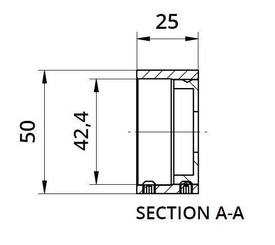 Inel fixare perete mana curenta rotunda Ø42,4 mm 1
