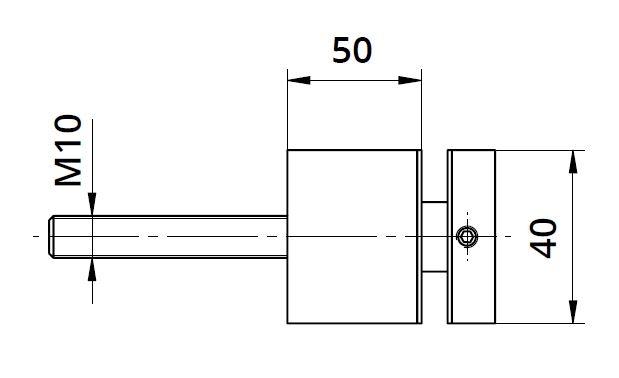 Conector sticla patrat 40x40/50 mm 1