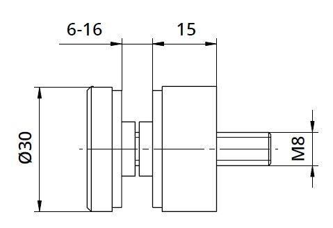 Conector sticla Ø30x15 mm 1