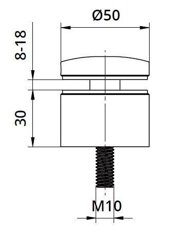 Conector sticla Ø50x30 mm 1